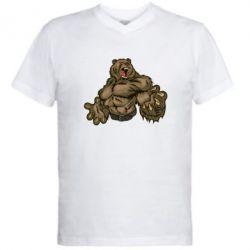 Мужская футболка  с V-образным вырезом Big Bear - FatLine