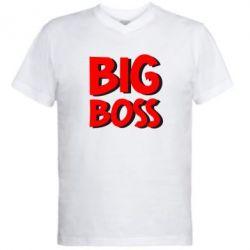 Мужская футболка  с V-образным вырезом Big Boss - FatLine
