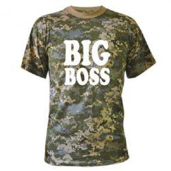 Камуфляжная футболка Big Boss - FatLine
