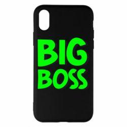 Чехол для iPhone X/Xs Big Boss