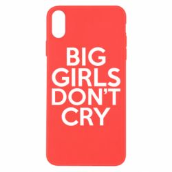 Чехол для iPhone X Big girls don't cry - FatLine