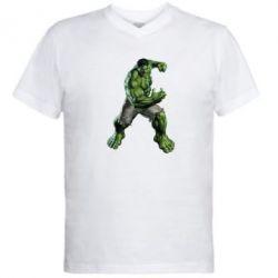 Мужская футболка  с V-образным вырезом Big Hulk - FatLine