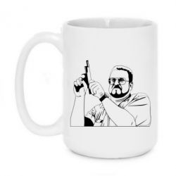 Кружка 420ml Big Lebowski with gun - FatLine