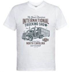Чоловіча футболка з V-подібним вирізом Big Truck 1