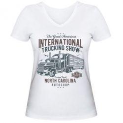 Жіноча футболка з V-подібним вирізом Big Truck 1