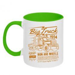 Кружка двоколірна 320ml Big Truck 2