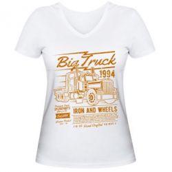 Жіноча футболка з V-подібним вирізом Big Truck 2