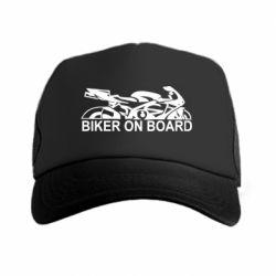 Кепка-тракер Biker on board