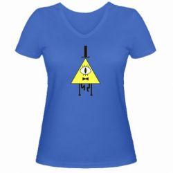 Женская футболка с V-образным вырезом Билл Шифр - FatLine