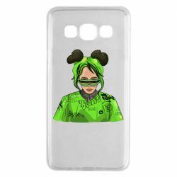 Чохол для Samsung A3 2015 Billie Eilish green style