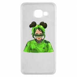Чохол для Samsung A3 2016 Billie Eilish green style