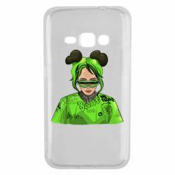 Чохол для Samsung J1 2016 Billie Eilish green style