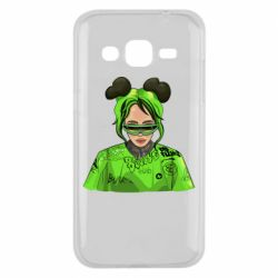 Чохол для Samsung J2 2015 Billie Eilish green style