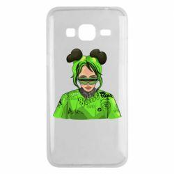 Чохол для Samsung J3 2016 Billie Eilish green style