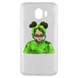 Чохол для Samsung J4 Billie Eilish green style