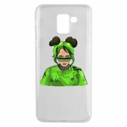 Чохол для Samsung J6 Billie Eilish green style