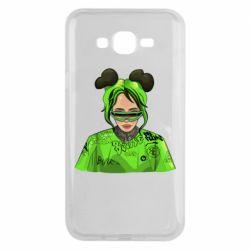 Чохол для Samsung J7 2015 Billie Eilish green style