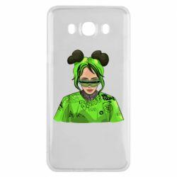 Чохол для Samsung J7 2016 Billie Eilish green style