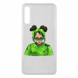 Чохол для Samsung A7 2018 Billie Eilish green style