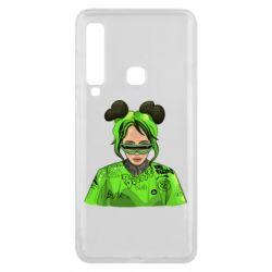 Чохол для Samsung A9 2018 Billie Eilish green style