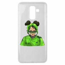 Чохол для Samsung J8 2018 Billie Eilish green style
