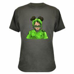 Камуфляжна футболка Billie Eilish green style