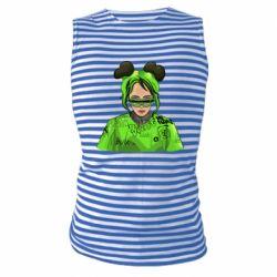 Майка-тільняшка Billie Eilish green style
