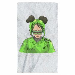 Рушник Billie Eilish green style