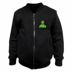 Дитячий бомбер Billie Eilish green style