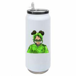 Термобанка 500ml Billie Eilish green style