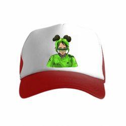 Дитяча кепка-тракер Billie Eilish green style