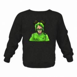 Дитячий реглан (світшот) Billie Eilish green style