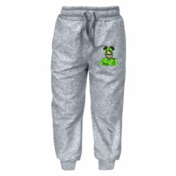Дитячі штани Billie Eilish green style