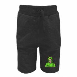 Дитячі шорти Billie Eilish green style