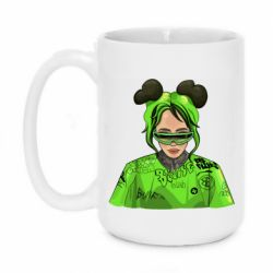 Кружка 420ml Billie Eilish green style