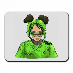 Килимок для миші Billie Eilish green style