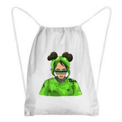 Рюкзак-мішок Billie Eilish green style