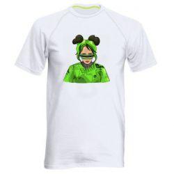 Чоловіча спортивна футболка Billie Eilish green style