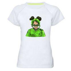 Жіноча спортивна футболка Billie Eilish green style