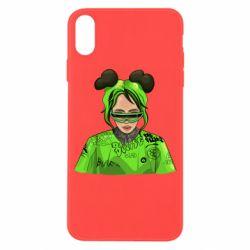 Чохол для iPhone X/Xs Billie Eilish green style