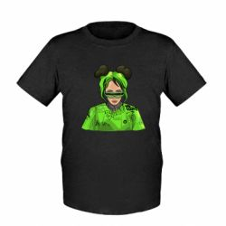 Дитяча футболка Billie Eilish green style