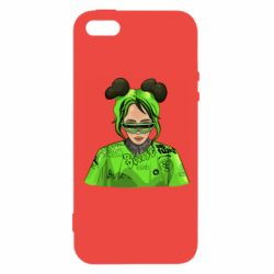 Чохол для iPhone 5 Billie Eilish green style