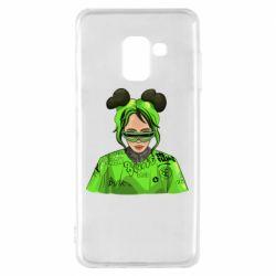 Чохол для Samsung A8 2018 Billie Eilish green style