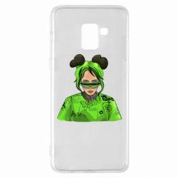 Чохол для Samsung A8+ 2018 Billie Eilish green style
