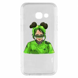 Чохол для Samsung A3 2017 Billie Eilish green style