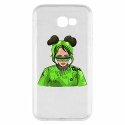 Чохол для Samsung A7 2017 Billie Eilish green style