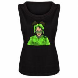 Майка жіноча Billie Eilish green style
