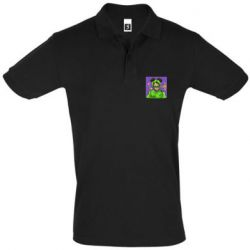 Мужская футболка поло Billy Eilish on purple background