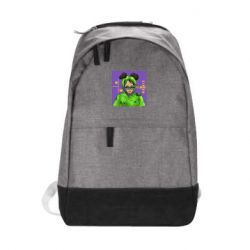 Городской рюкзак Billy Eilish on purple background