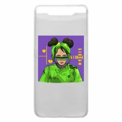 Чехол для Samsung A80 Billy Eilish on purple background